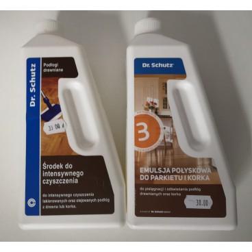 Zestaw do intensywnego czyszczenia podłóg lakierowanych Dr. Schutz